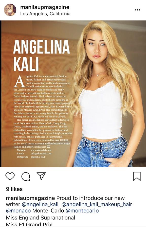 AKmodel com - Angelina Kali is a Professional London model